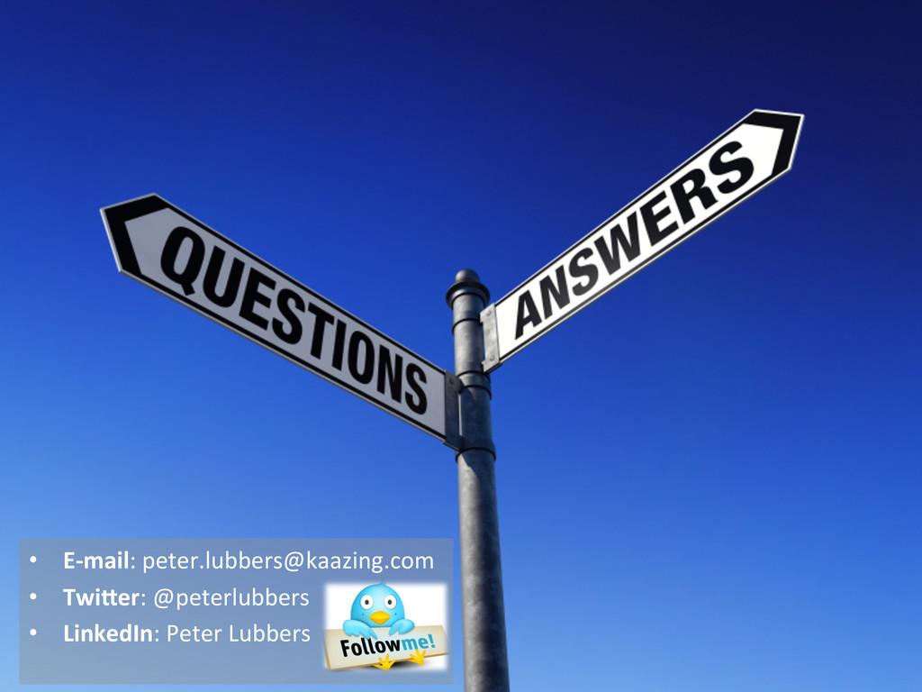 • E-‐mail: peter.lubbers@kaazing.com  •...