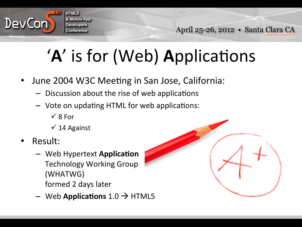 'A' is for (Web) Applica-ons  •...