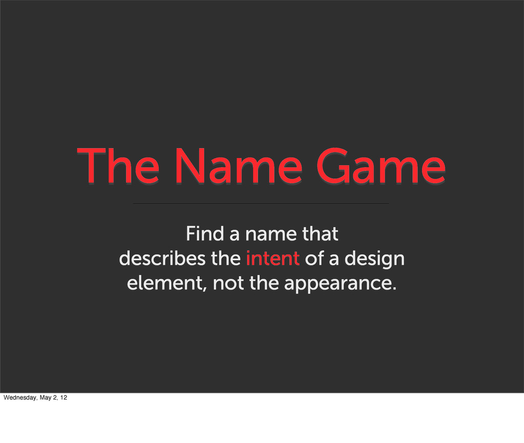 The Name Game Find a name that describes the in...