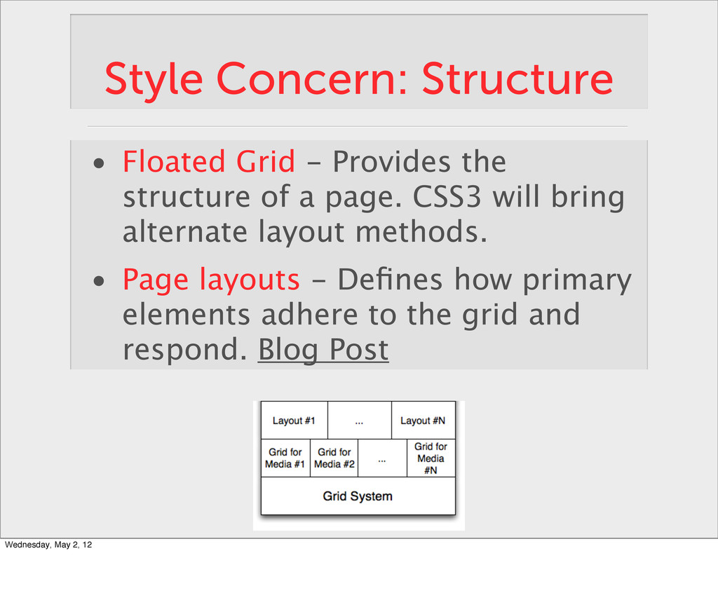 Style Concern: Structure • Floated Grid - Provi...