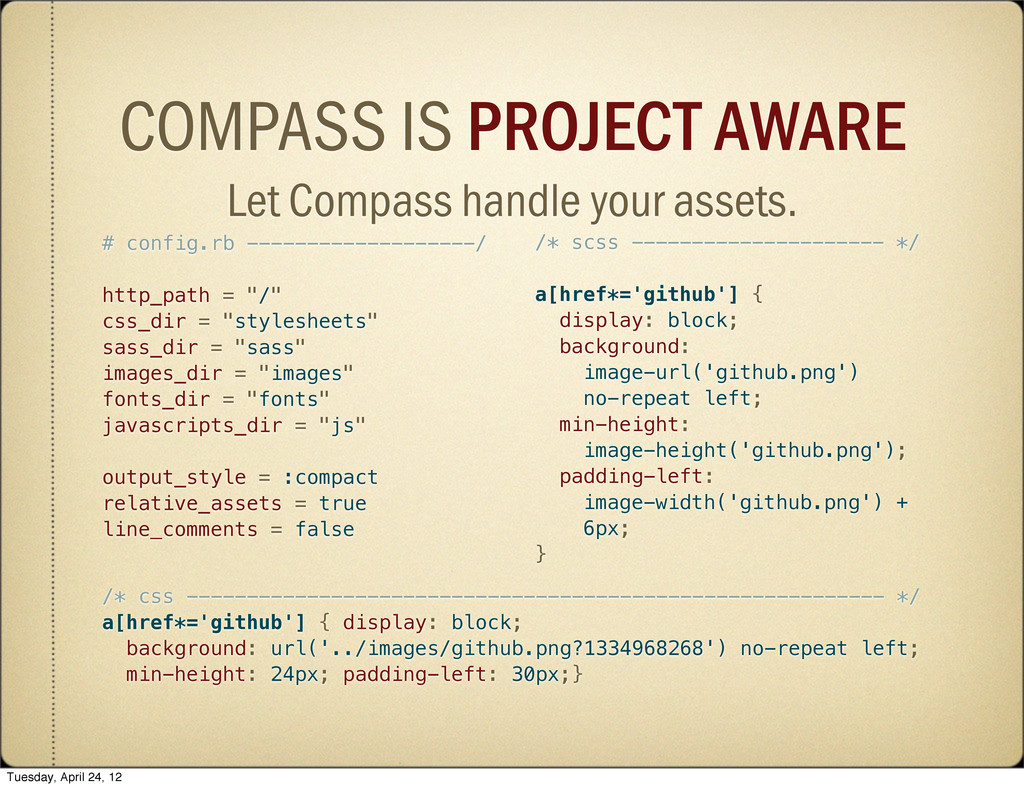 COMPASS IS PROJECT AWARE Let Compass handle you...