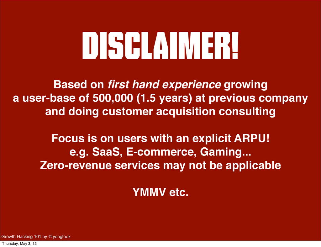 Disclaimer! Based on first hand experience growi...