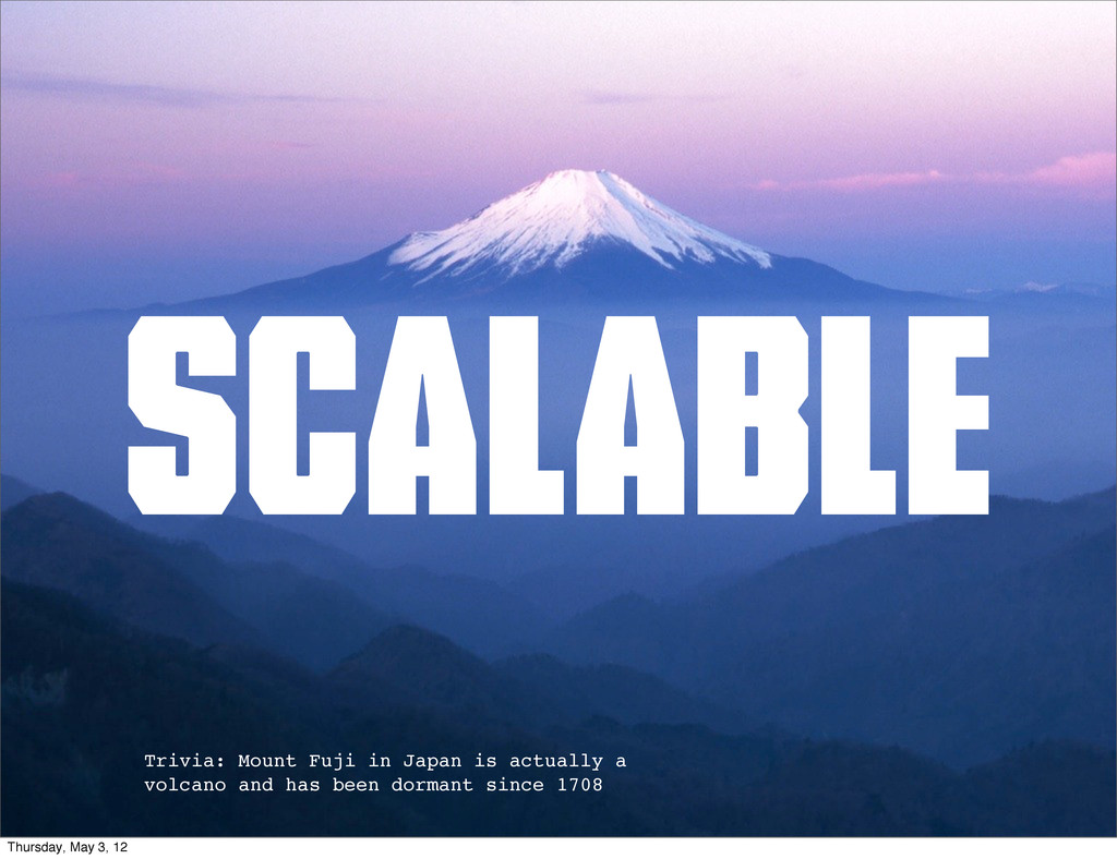 scalable Trivia: Mount Fuji in Japan is actuall...
