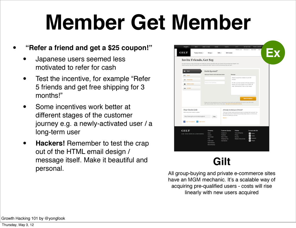 "Member Get Member • ""Refer a friend and get a $..."