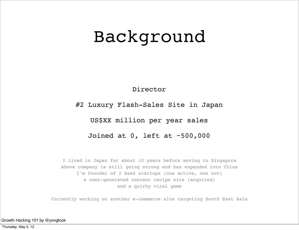 Background Director #2 Luxury Flash-Sales Site ...