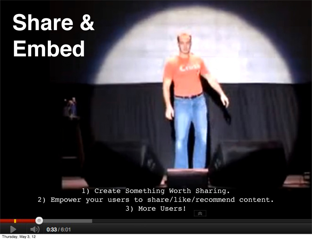Share & Embed 1) Create Something Worth Sharing...