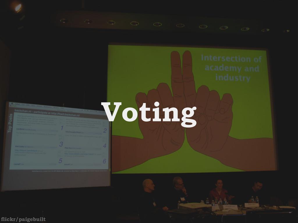 flickr/paigebuilt Voting