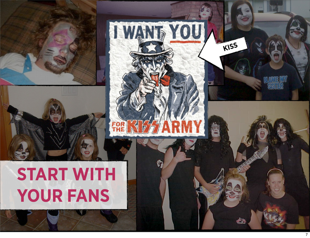 START WITH YOUR FANS KISS 7
