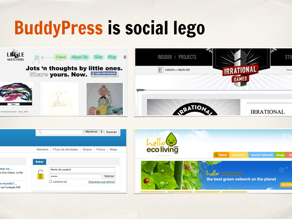 BuddyPress is social lego