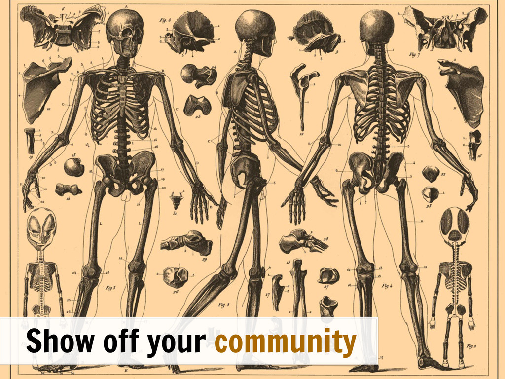 \ Show off your community