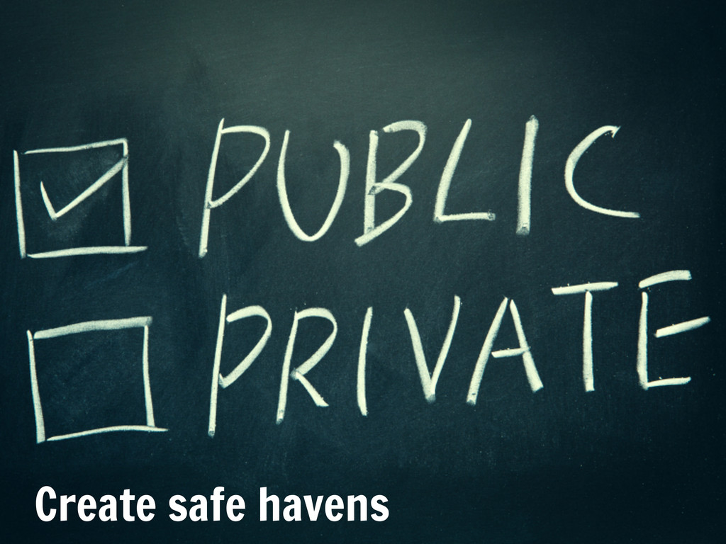 Date Create safe havens