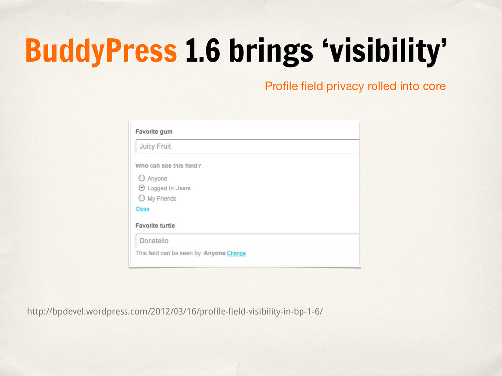 Profile field privacy rolled into core http://bpd...
