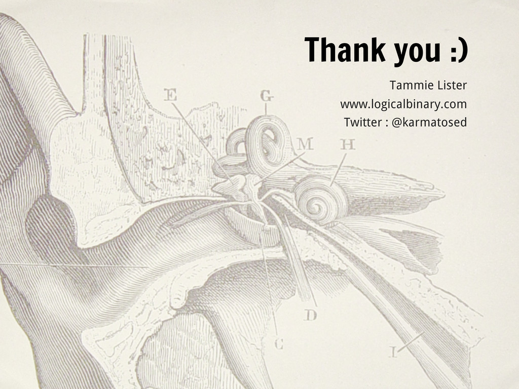 Thank you :) Tammie Lister www.logicalbinary.co...