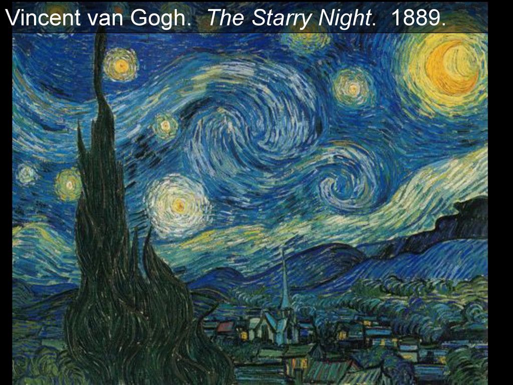 Vincent van Gogh. The Starry Night. 1889.