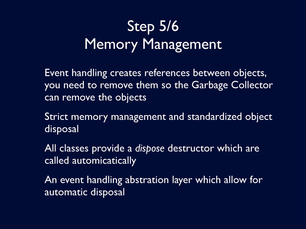 Step 5/6 Memory Management Event handling creat...