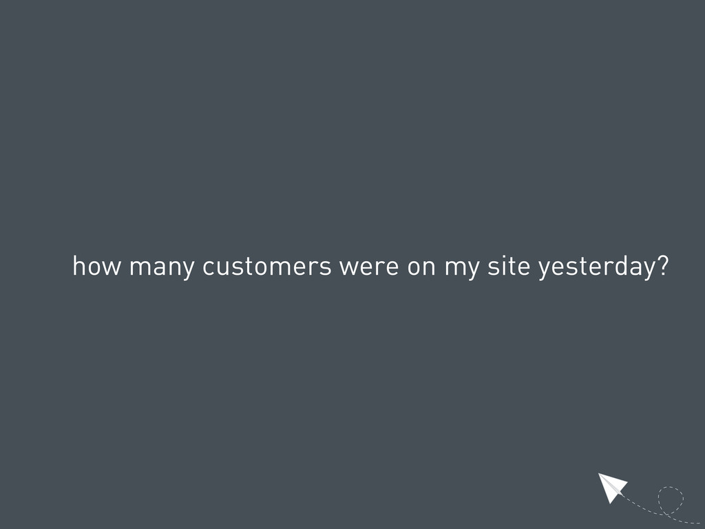 how many customers were on my site yesterday?