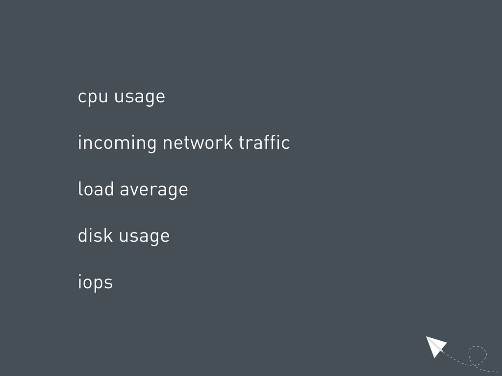 cpu usage incoming network traffic load average...