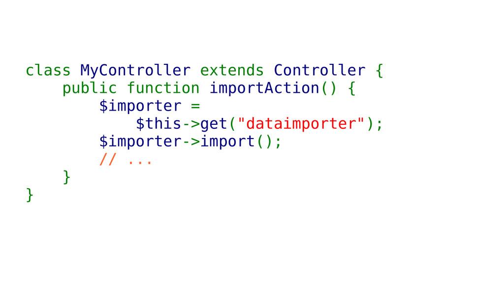 class MyController extends Controller { public ...