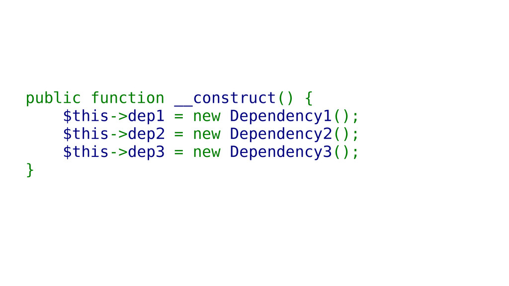 public function __construct() { $this->dep1 = n...