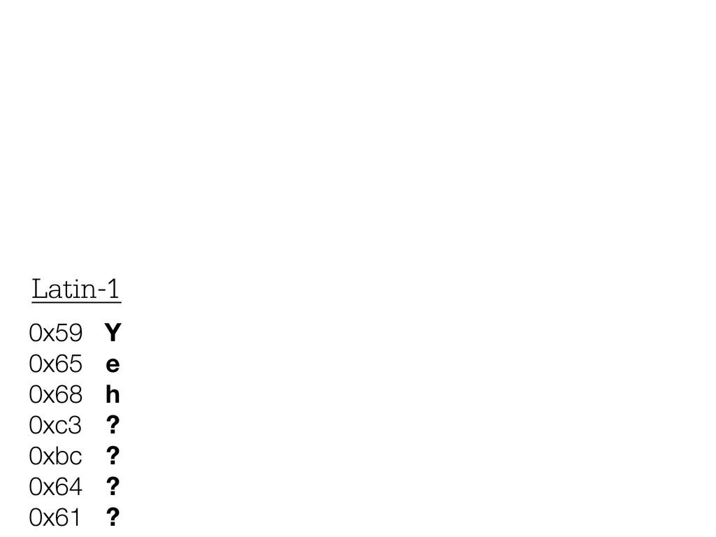 Y e h ? ? ? ? 0x59 0x65 0x68 0xc3 0xbc 0x64 0x6...