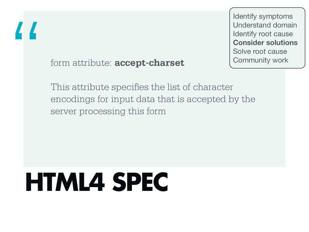 form attribute: accept-charset This attribute s...