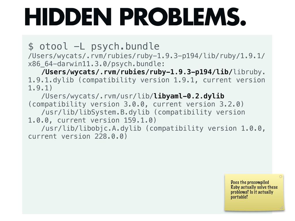 $ otool -L psych.bundle /Users/wycats/.rvm/rubi...