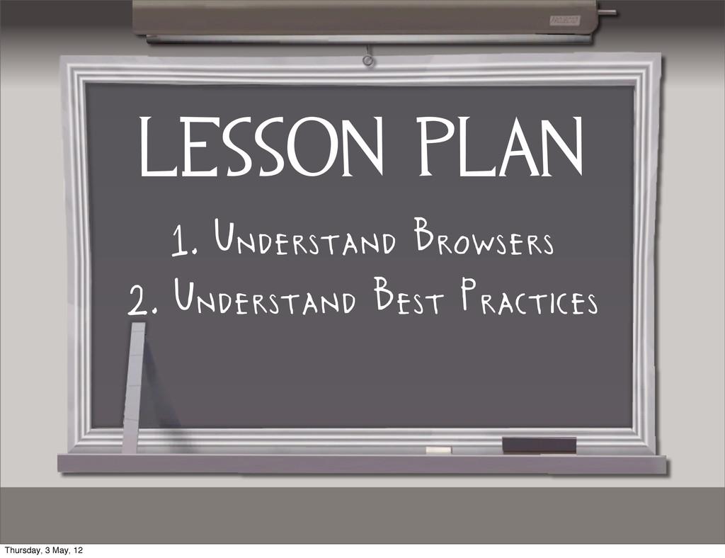 lesson plan 1. Understand Browsers 2. Understan...