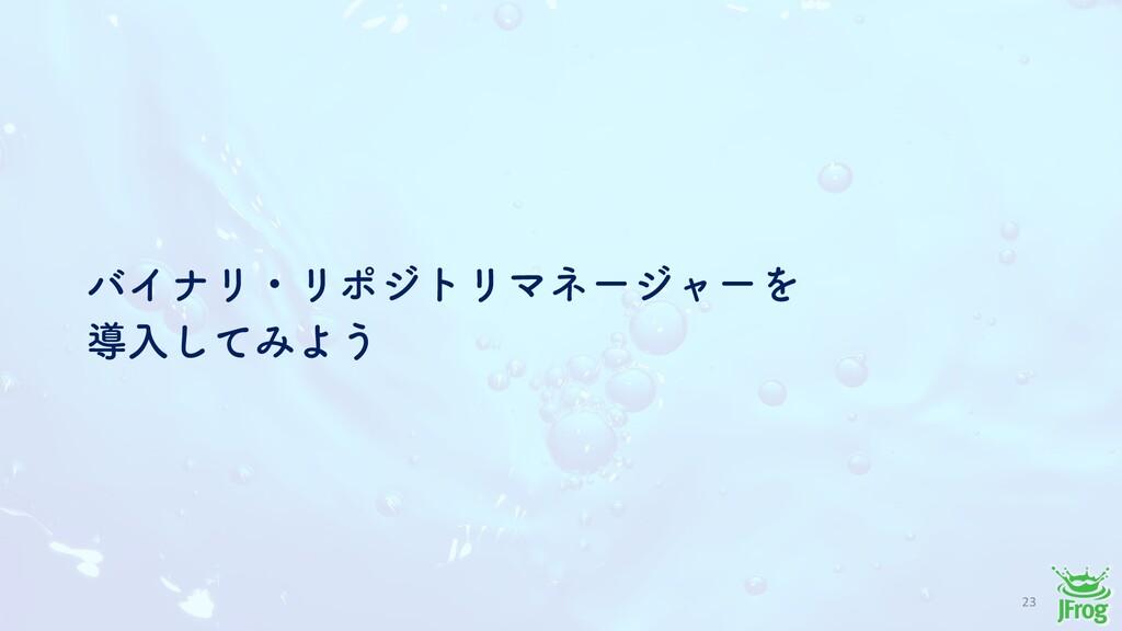 23 όΠφϦɾϦϙδτϦϚωʔδϟʔΛ ಋೖͯ͠ΈΑ͏
