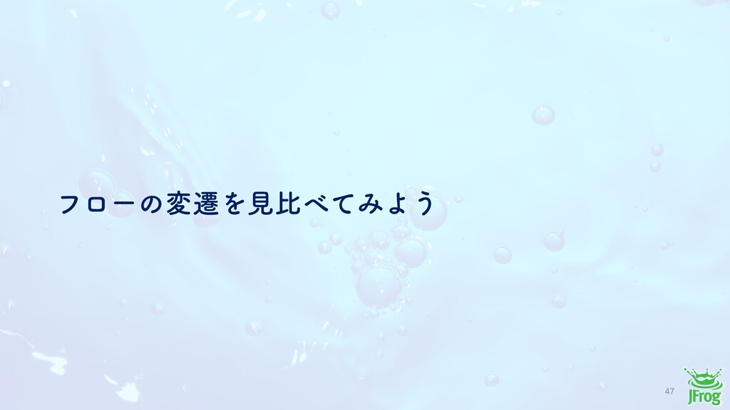 47 ϑϩʔͷมભΛݟൺͯΈΑ͏