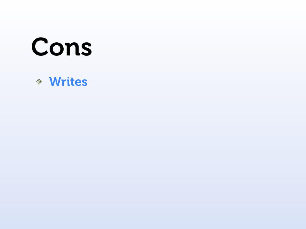Cons Writes