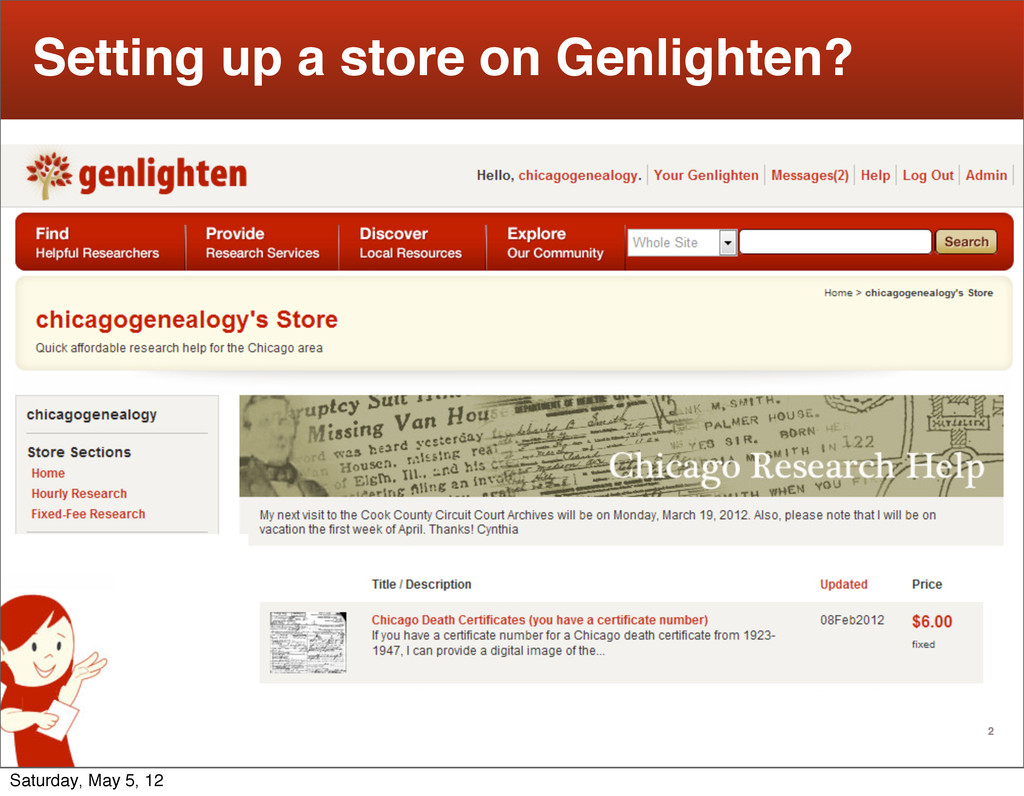 2 Setting up a store on Genlighten? Saturday, M...