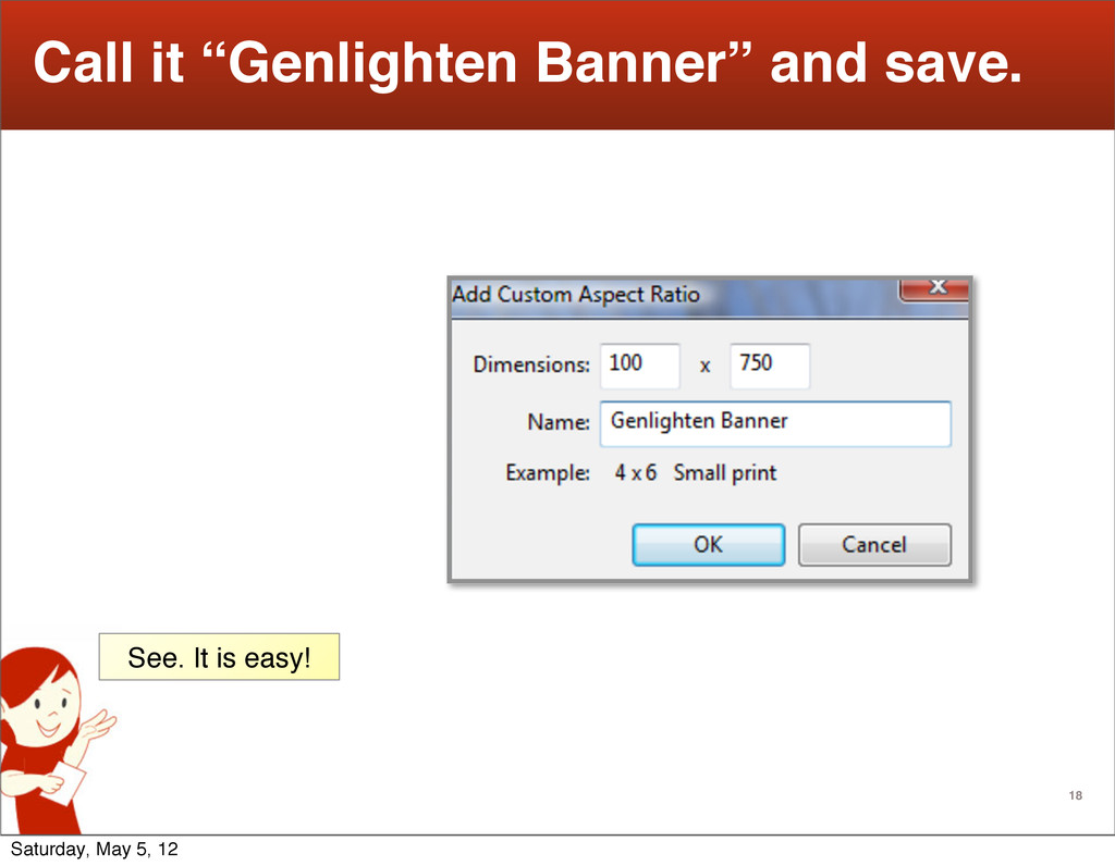 "18 Call it ""Genlighten Banner"" and save. See. I..."