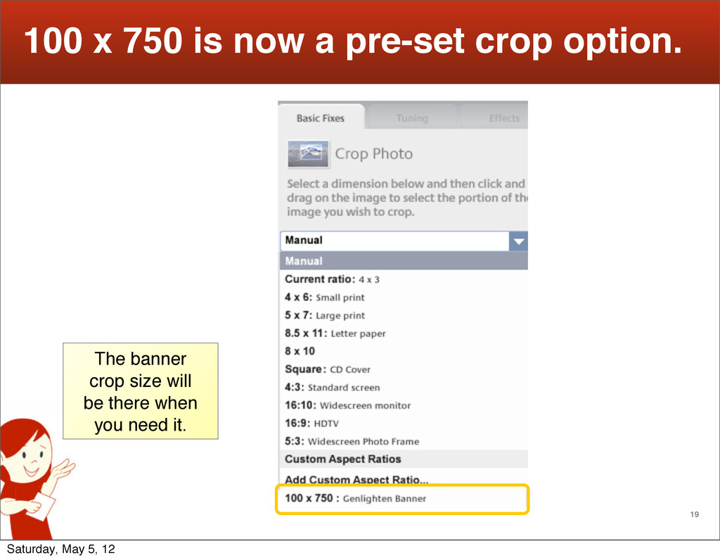 19 100 x 750 is now a pre-set crop option. The ...