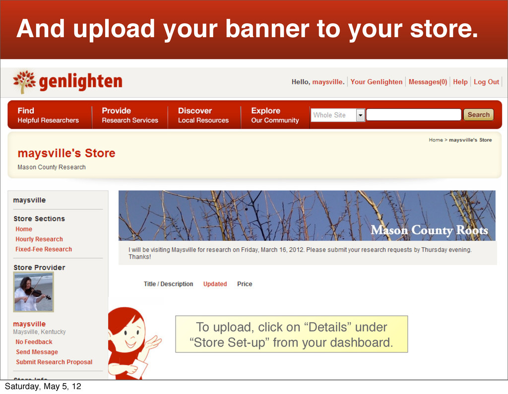 25 And upload your banner to your store. To upl...
