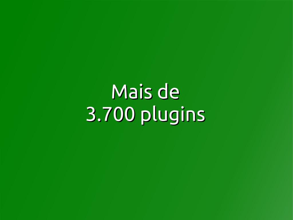 Mais de Mais de 3.700 plugins 3.700 plugins