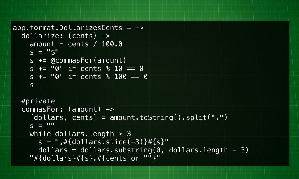 app.format.DollarizesCents = -> dollarize: (cen...
