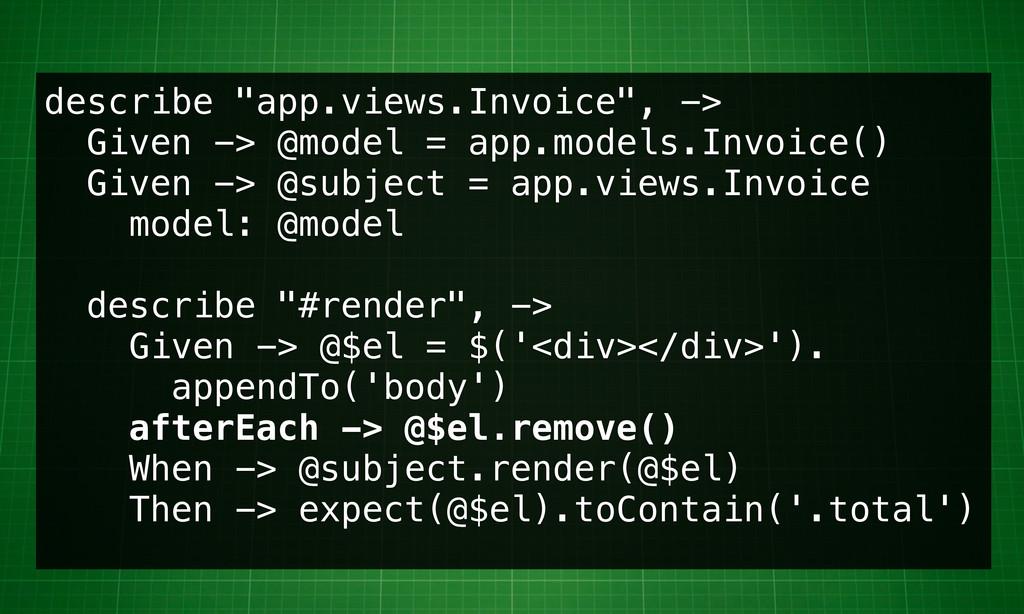 """describe """"app.views.Invoice"""", -> Given -> @mode..."""