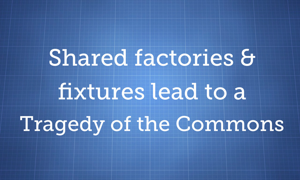 Shared factories & fixtures lead to a Tragedy of...