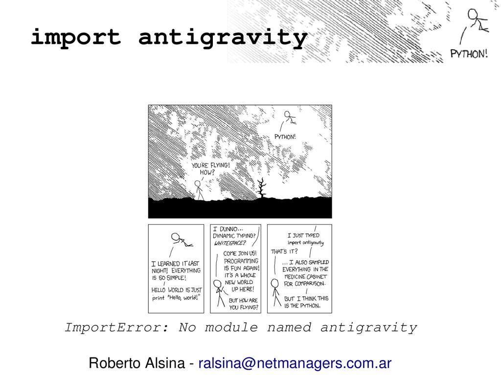 import antigravity ImportError: No module named...