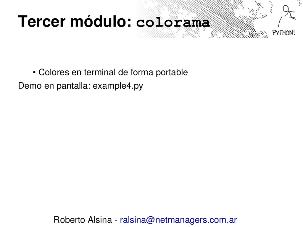 Tercer módulo: colorama • Colores en terminal d...