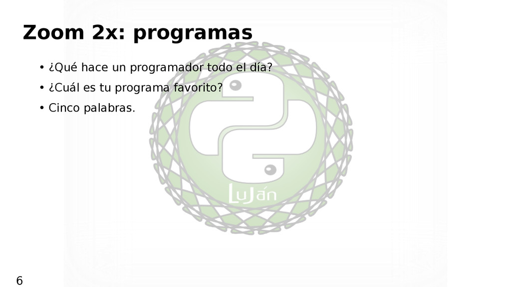 Zoom 2x: programas • ¿Qué hace un programador t...
