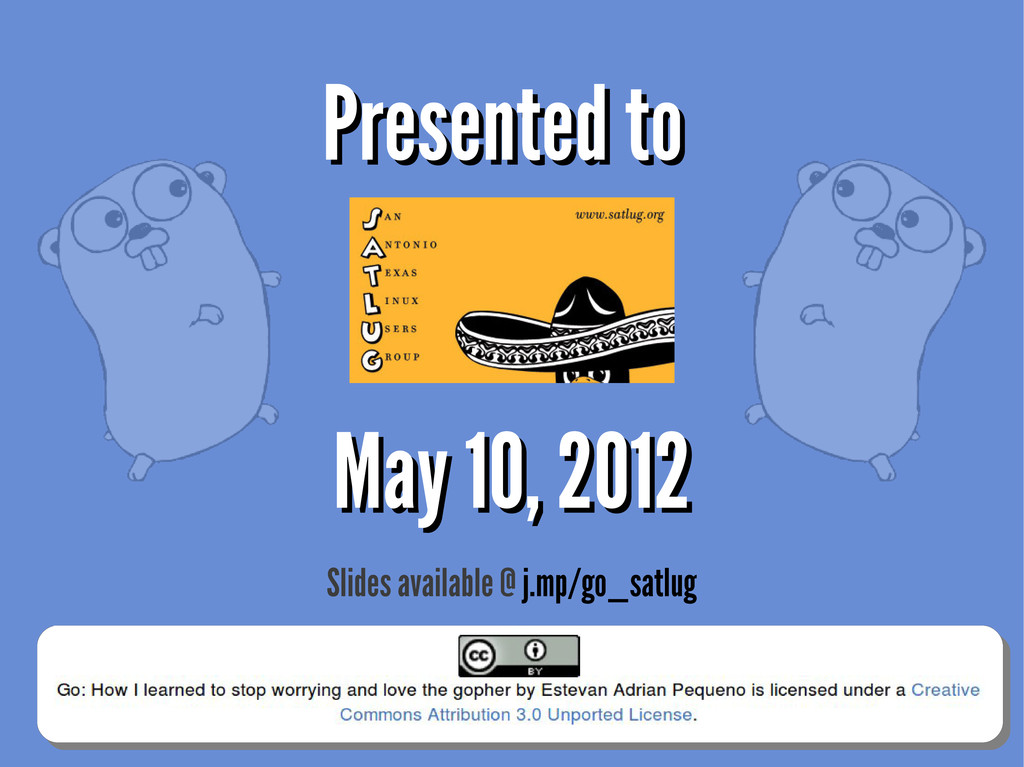 Presented to Presented to May 10, 2012 May 10, ...