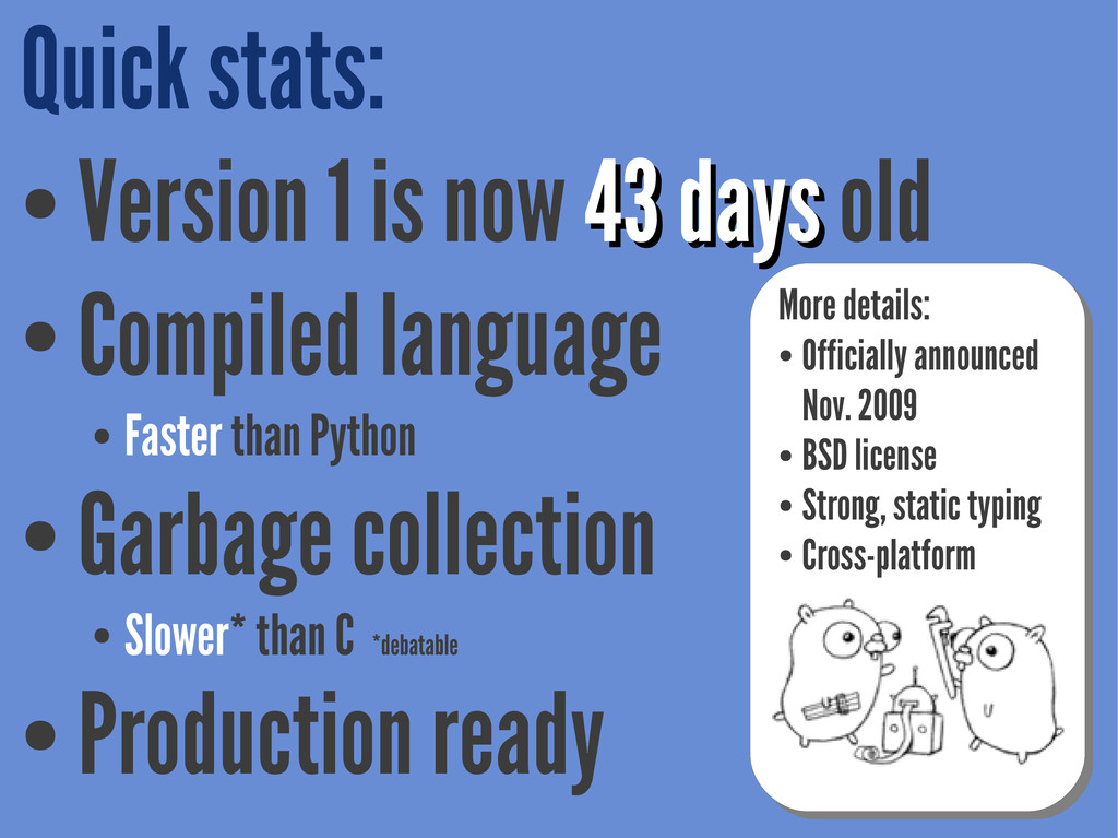 Quick stats: ● Version 1 is now 43 43 days days...
