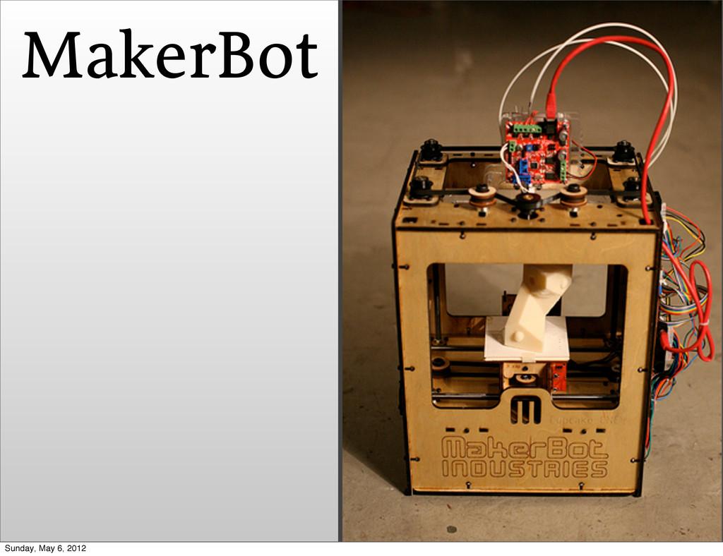 MakerBot Sunday, May 6, 2012