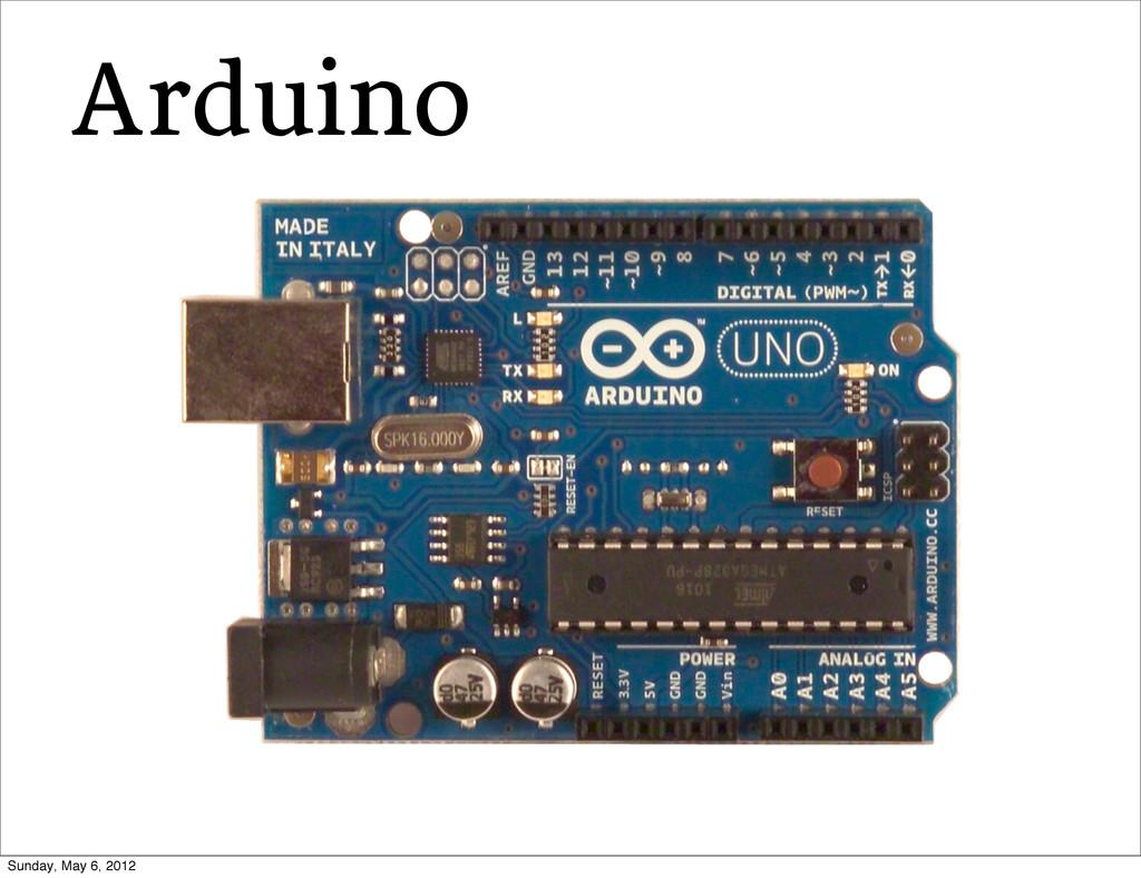 Arduino Sunday, May 6, 2012