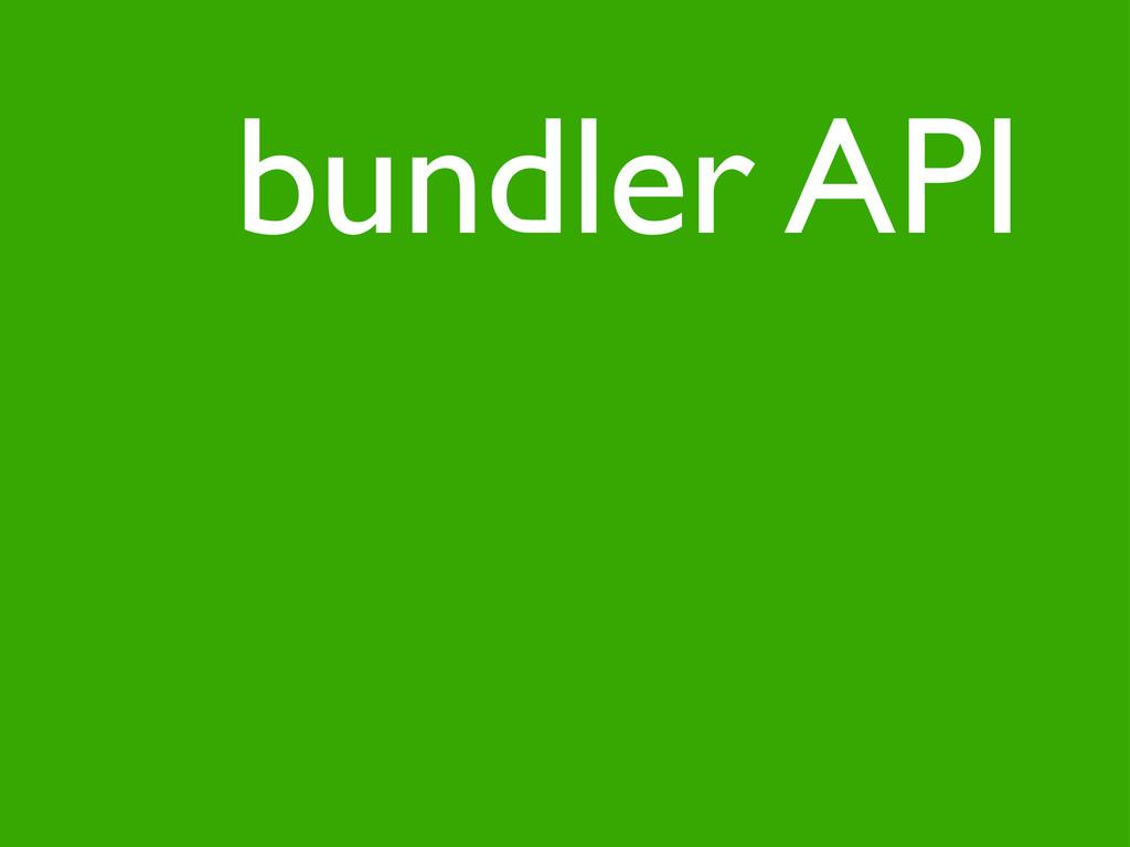 bundler API