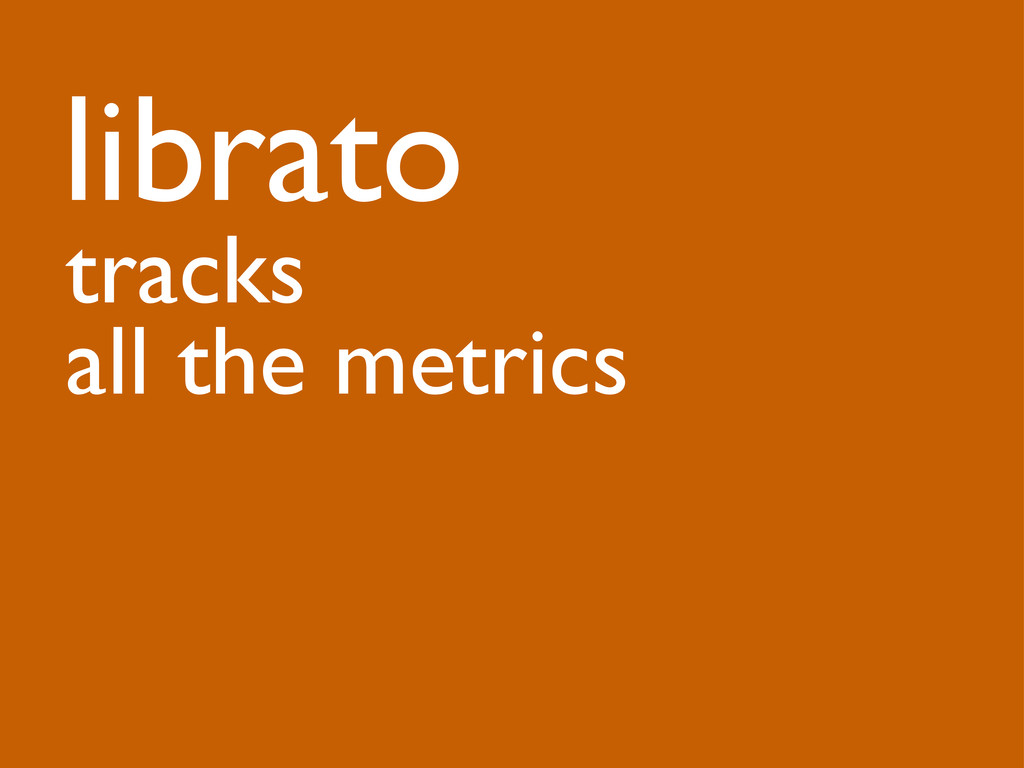 librato tracks all the metrics