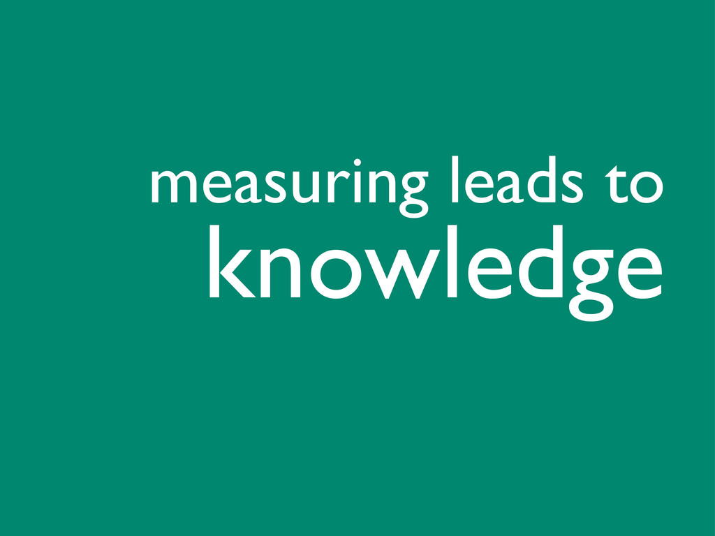 knowledge measuring leads to