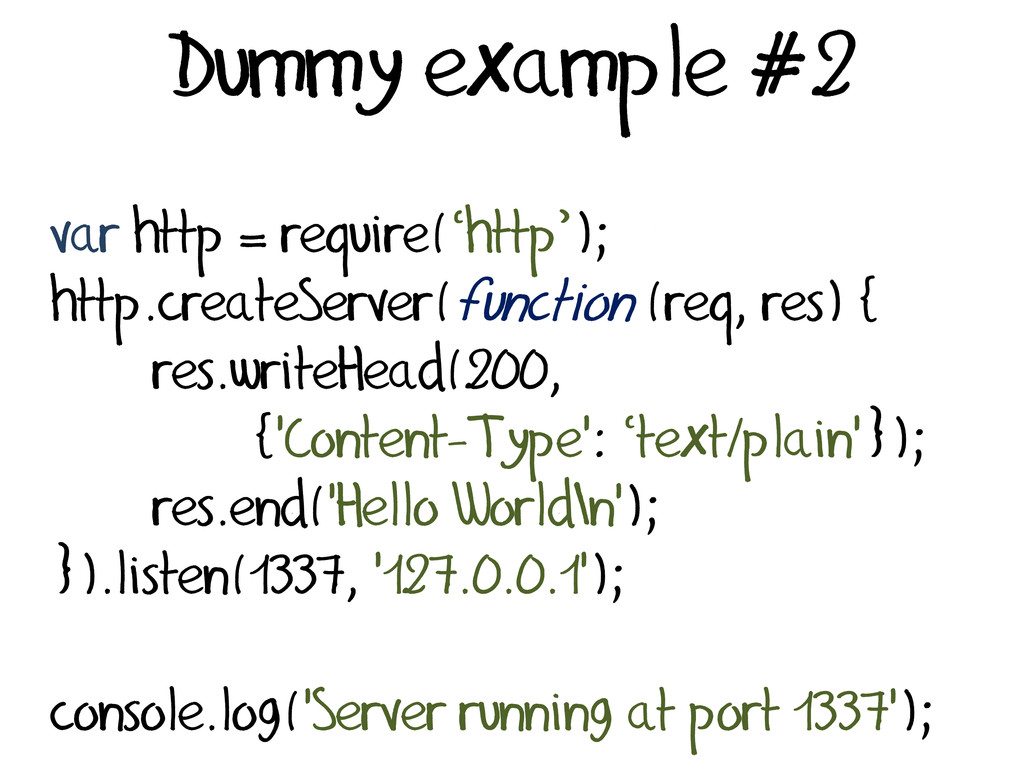 Dummy example #2 var http = require('http'); ht...