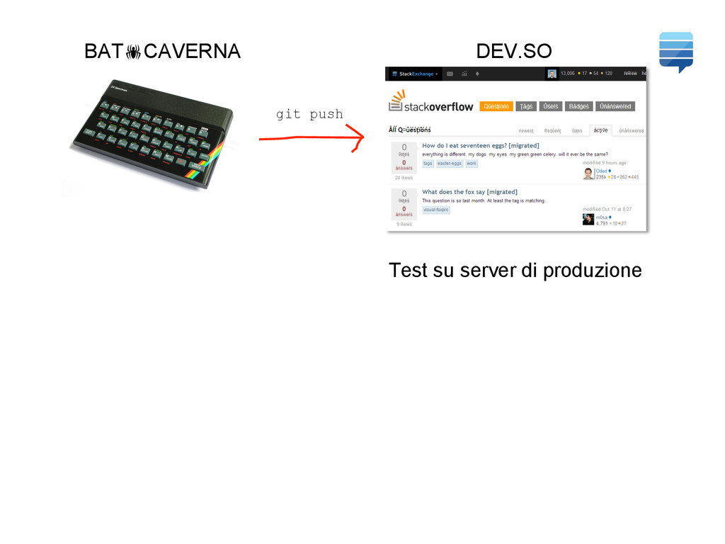 DEV.SO Test su server di produzione git push BA...